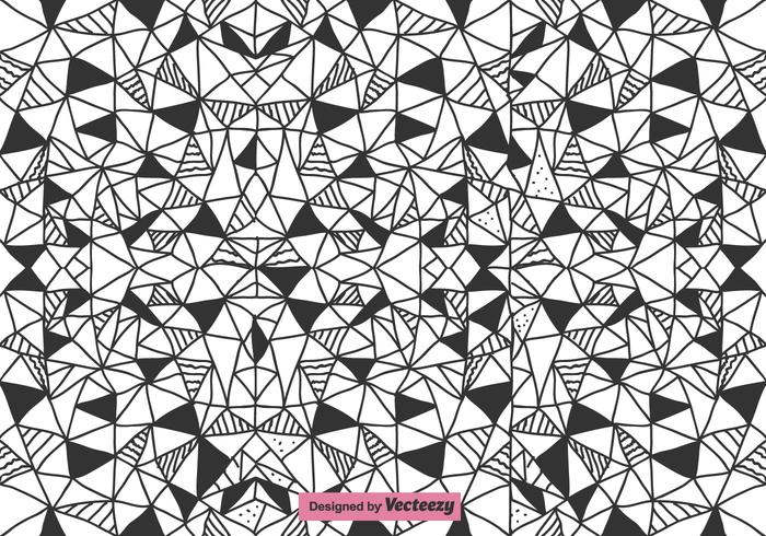 Motif vectoriel des triangles abstraits