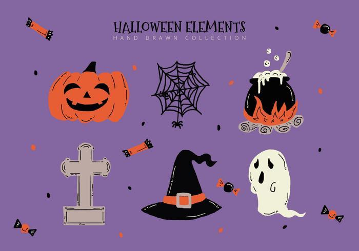 Halloween Elements Collection Vectors