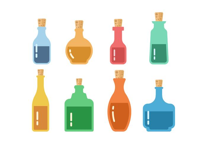 Free Bottle with Stopper Vector