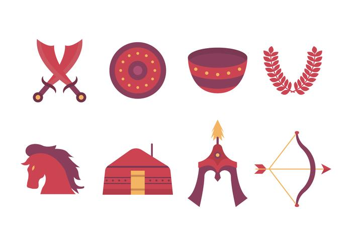 Icônes vectorielles mongoles gratuites