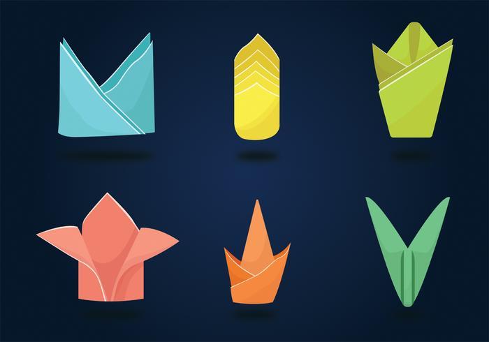 Serviette Napkin Folding Vector Pack