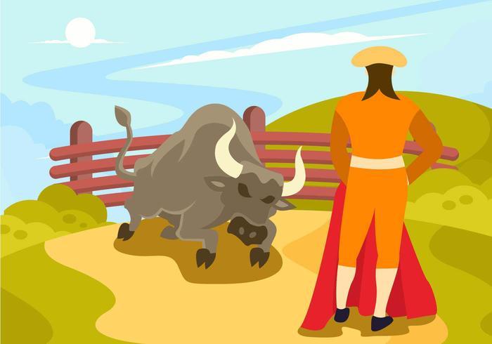 Vector de combatiente de toro