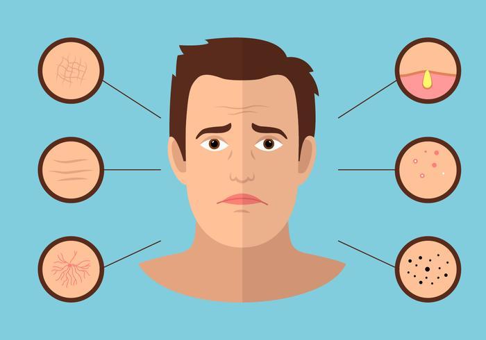 mans Gesicht Problem