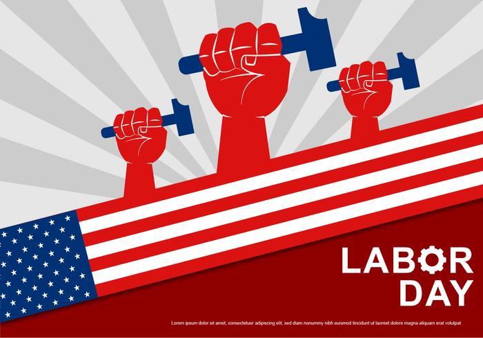 Día del Trabajo Vector Tarjeta