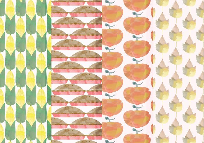 Vector Set of Fall Patterns