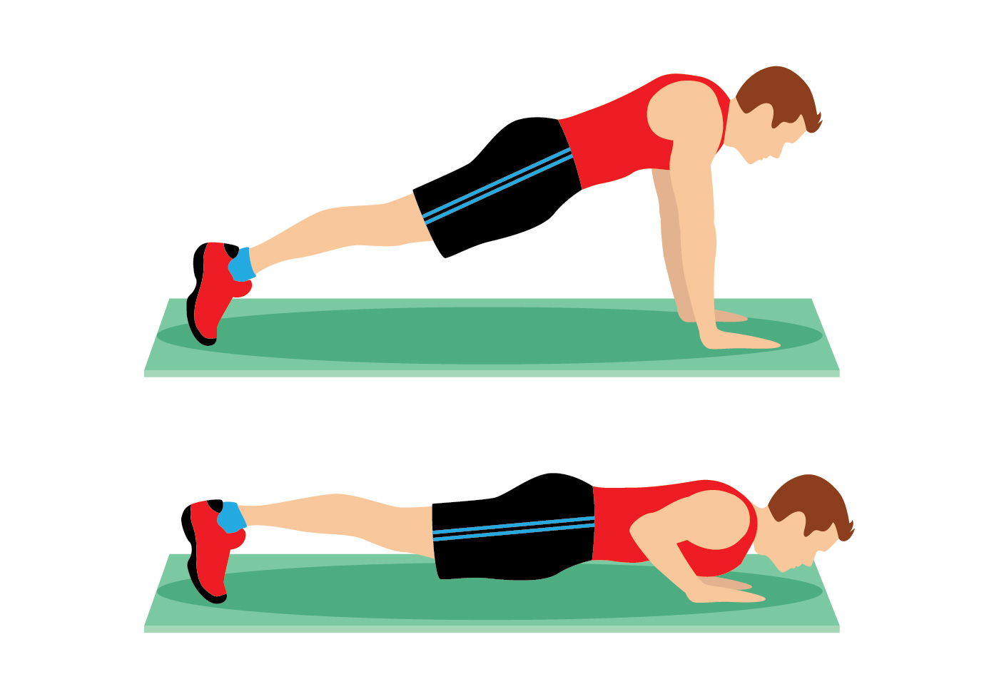 Push Up Pose Vector - Download Free Vector Art, Stock ...