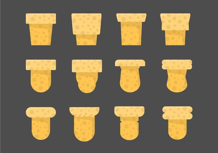 Flasche Stopper Vector Icons