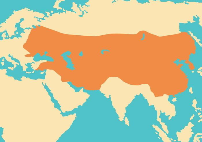 Mongol Empire Map Vector