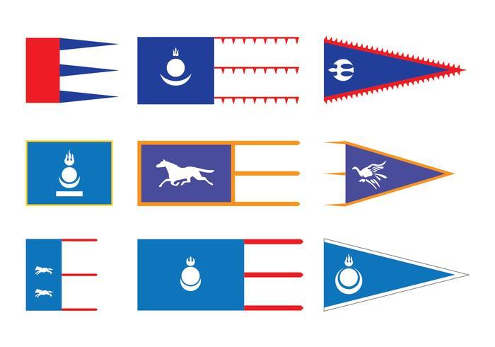 Vecteurs de drapeau mongol