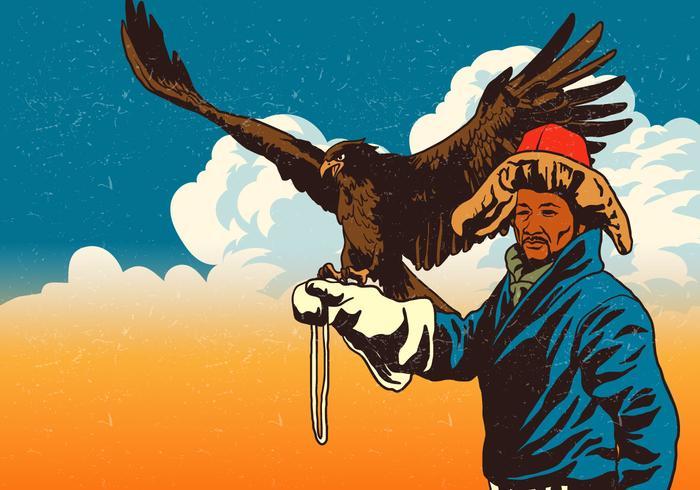 Mongolian Eagle Handler Vector