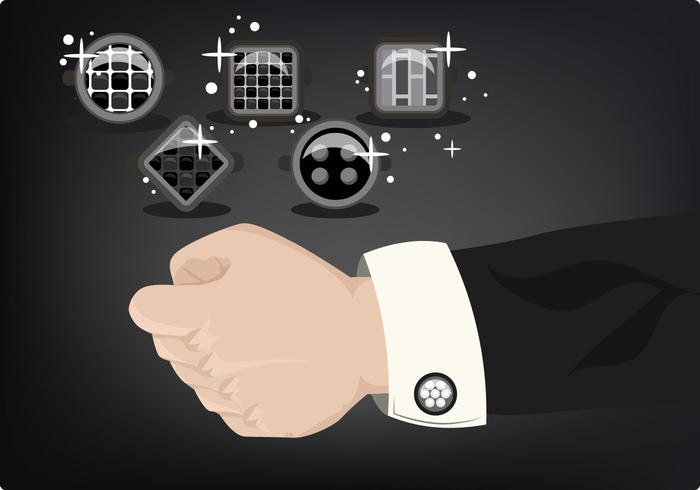 Man with Cufflinks and Suit Vector