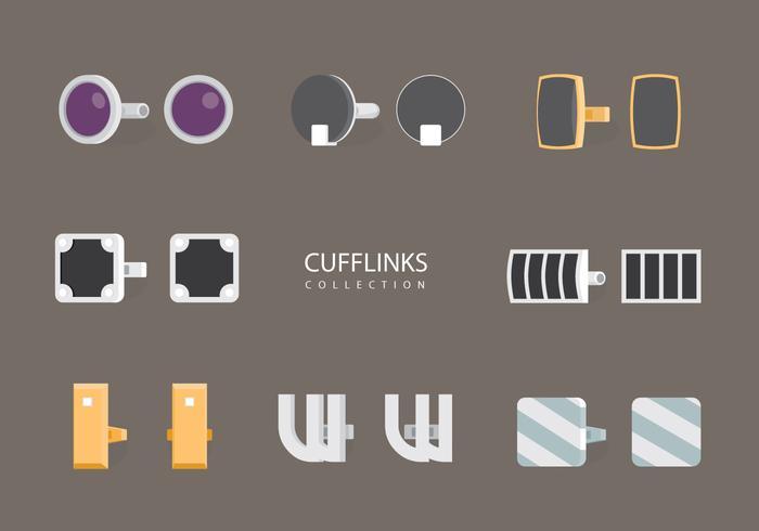 Cufflink Vector Flat Collection