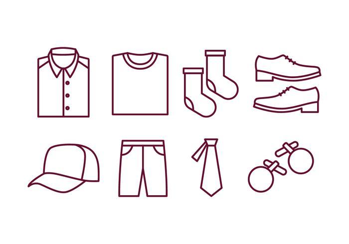 Mannen Accessoires Icon Pack