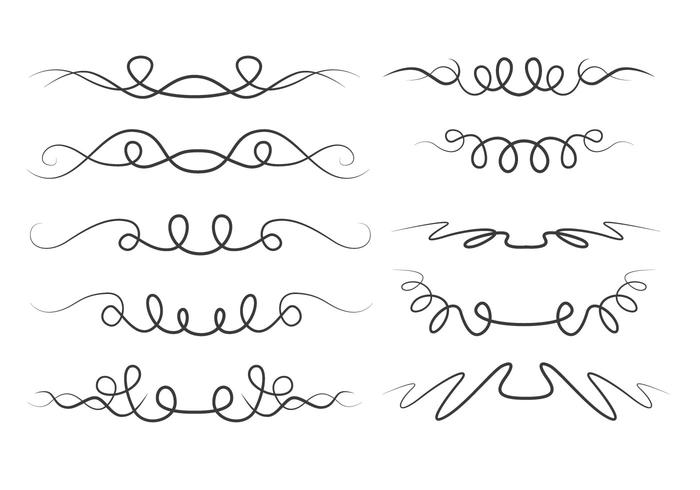 squiggle line set