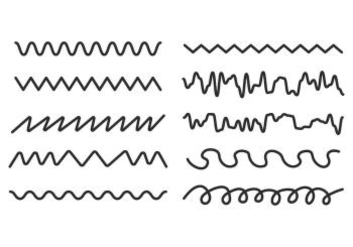 Conjunto de Squiggle Vector