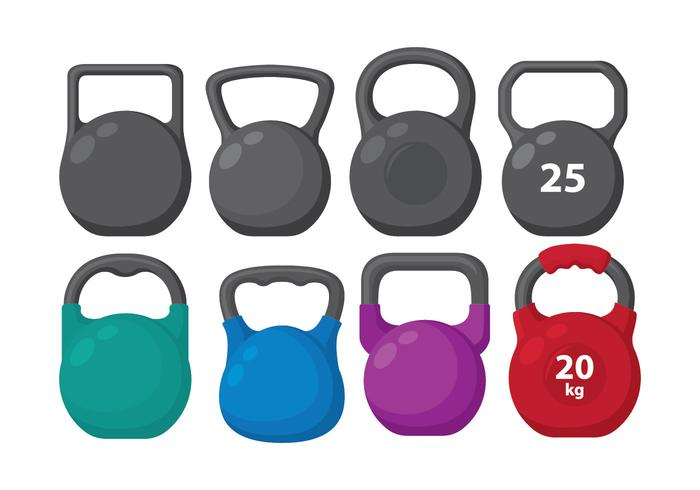 Kettle Bell Icon Set