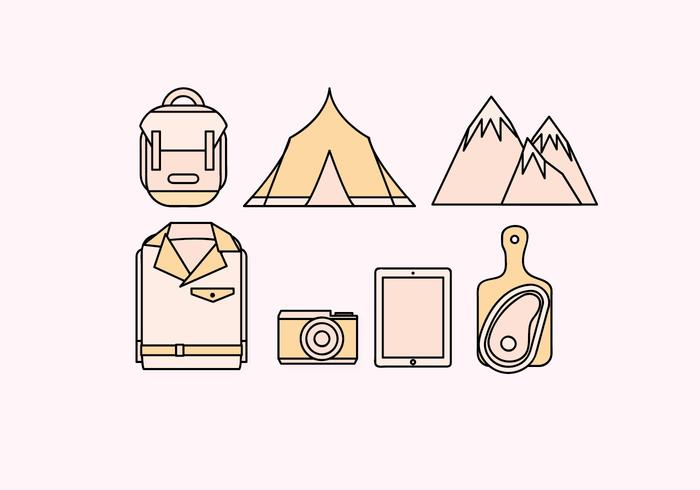 Vector Camping Elements