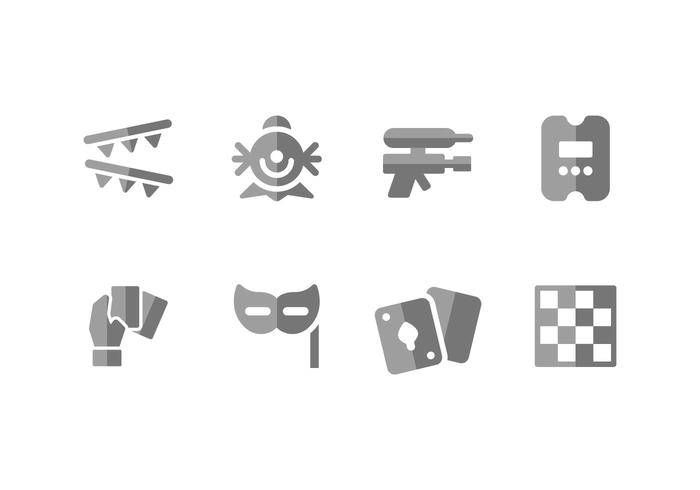 Leasure and fun vector icons
