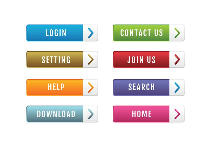 Paquete de botones del sitio web vector