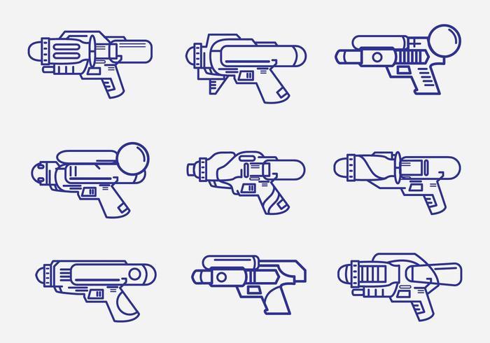 Kids Watergun Lineart Pack