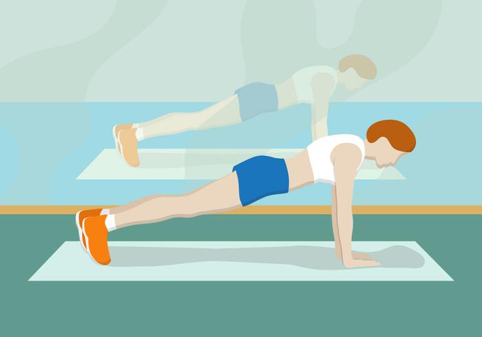 Pushup fitness vector