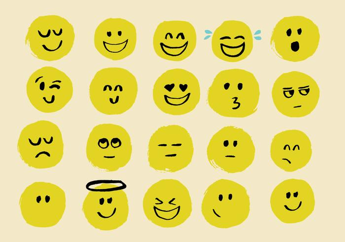 Hand drawn emoji vectors