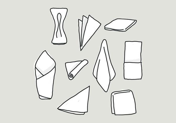 Handdrawn Set Of Napkin Vectors