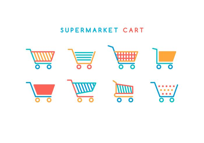 Free Supermarket Cart Vector