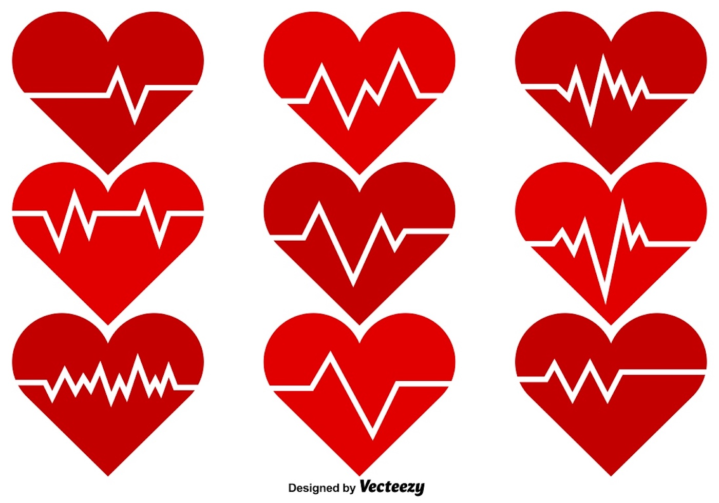 Vector Heart Rhythm Color Icons - Download Free Vectors ...
