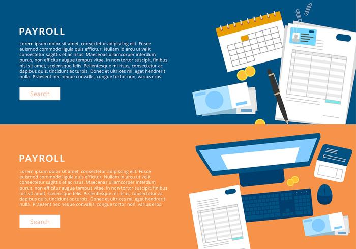 Payroll Banner Template Free Vector