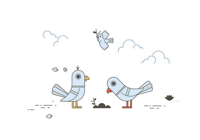 vecteur de pigeons gratuit