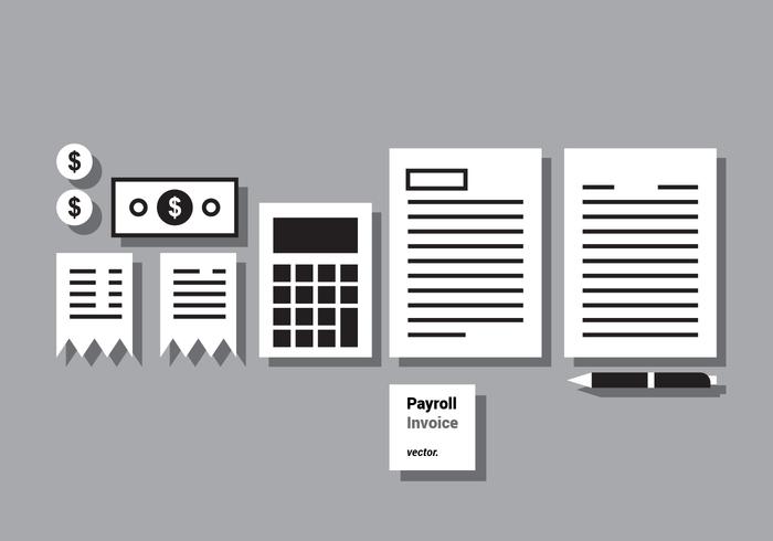 Payroll Invoice Vector