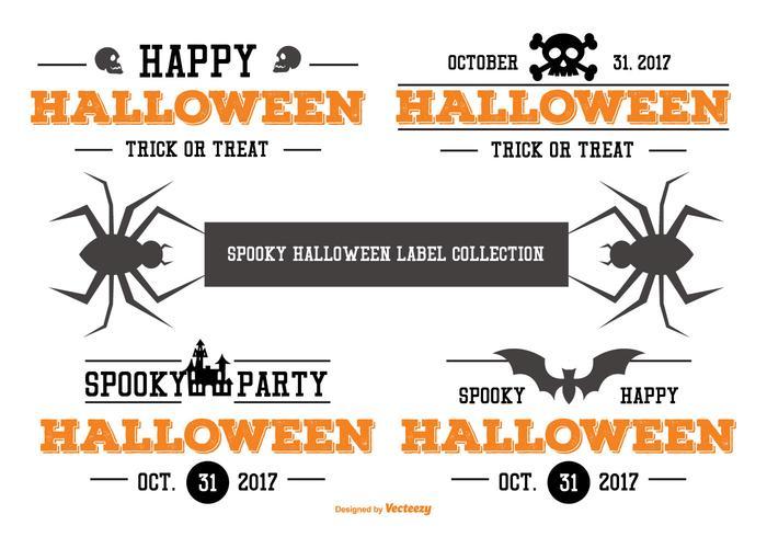 Typographic Halloween Label Collection