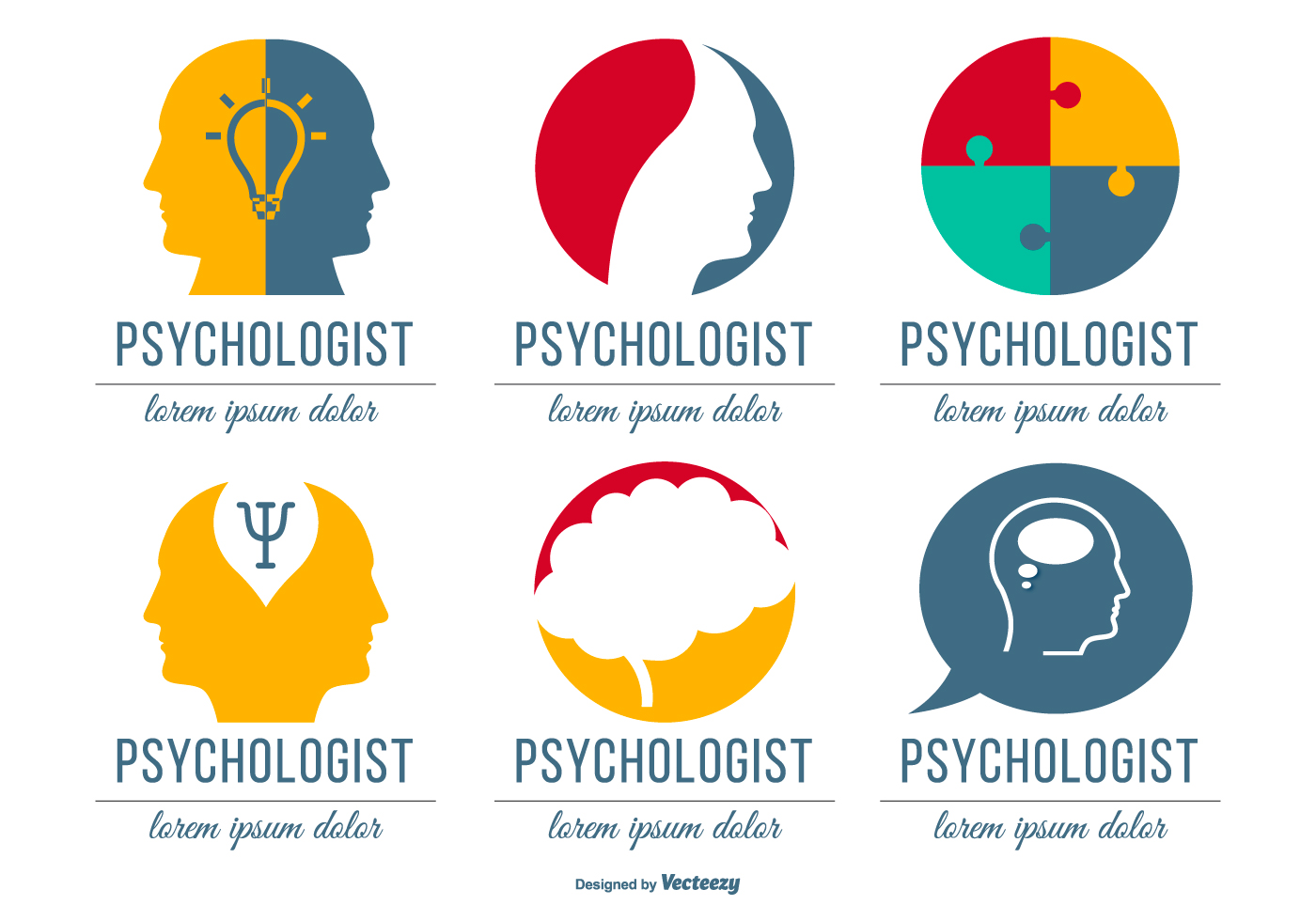 psychologist logo collection download free vector art