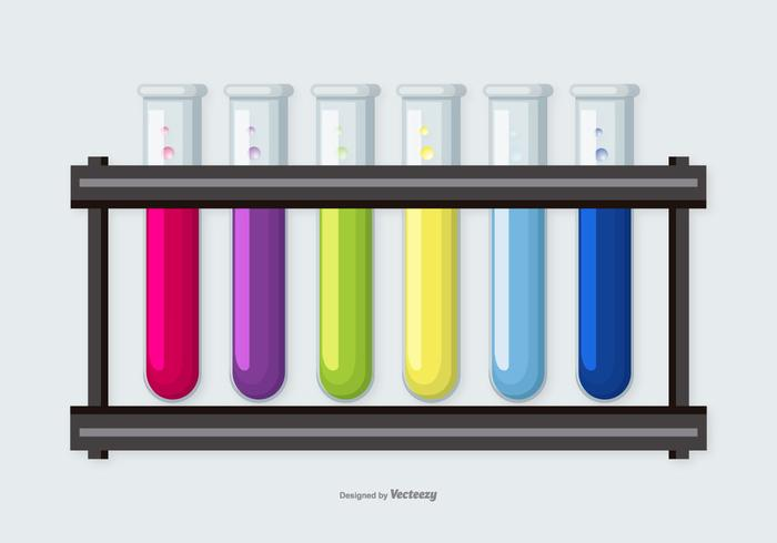 Colorful Flasks Vector Collection