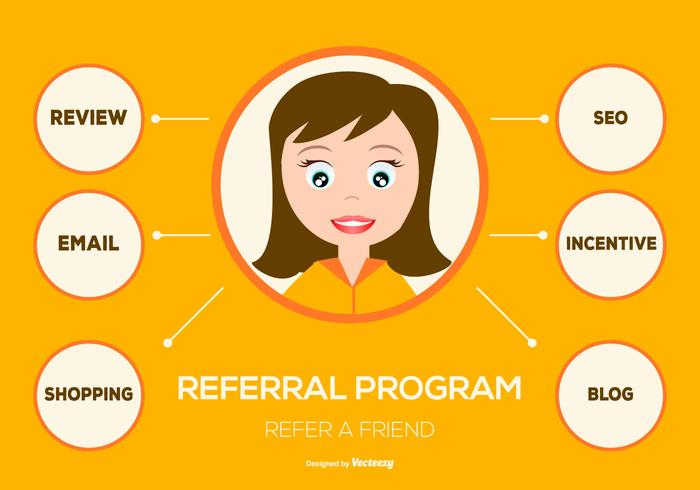 Flat Style Referral Program Illustration