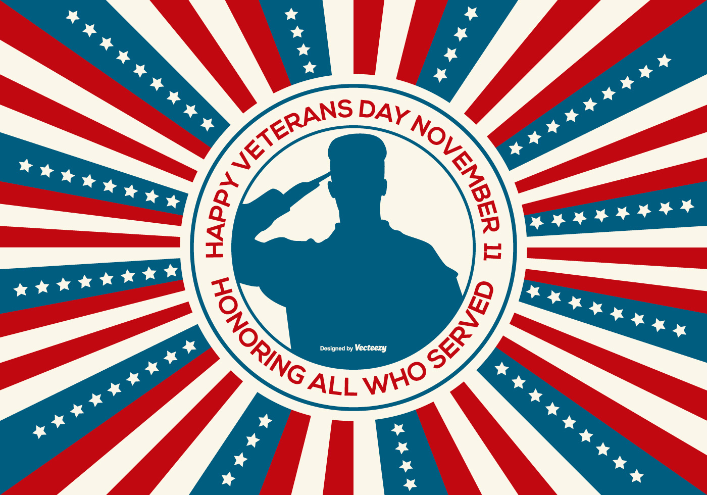 Happy Veterans Day Illustration - Download Free Vector Art ...