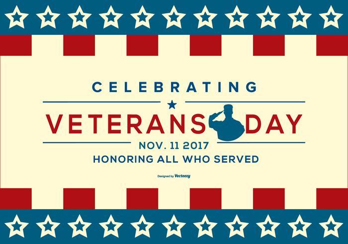 Ilustración patriótica del día de veteranos