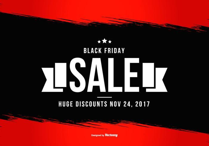 Cartel negro promocional de viernes