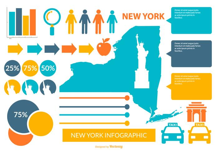 New York Infographic Elements