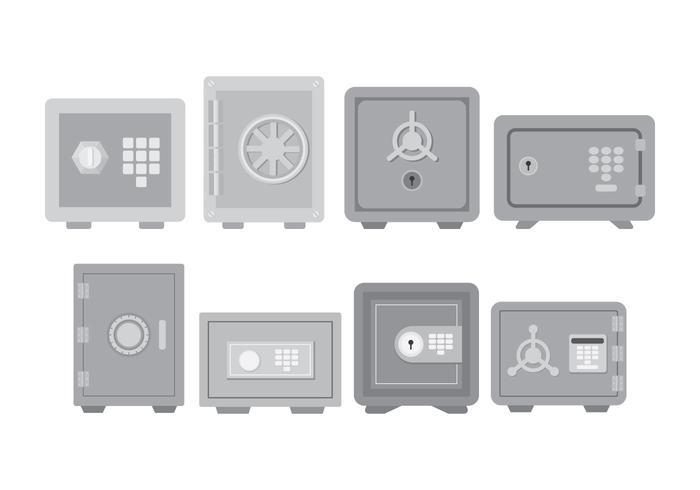 Conjunto de iconos de caja fuerte