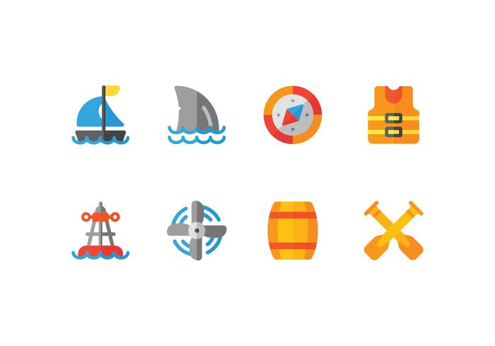 Harbour Flat Icons Set
