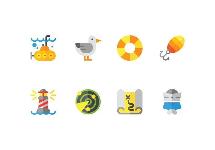 Harbour Flat Icons Set