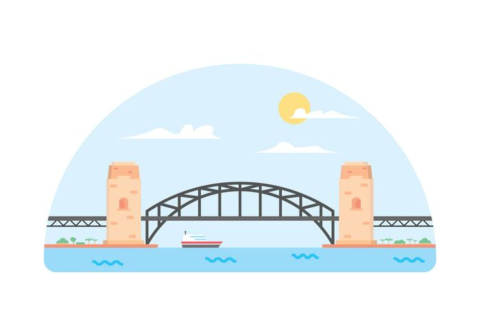 Harbour Bridge Simple Vector illustration