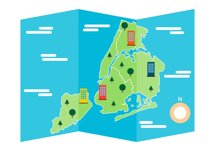 Gratis Iconische New York Kaart Vector