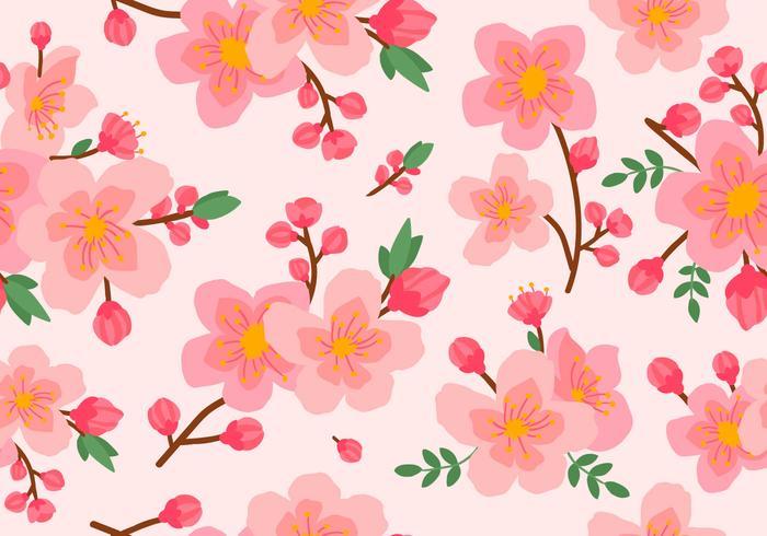 Beauty Pink Plum Blossom Seamless Pattern