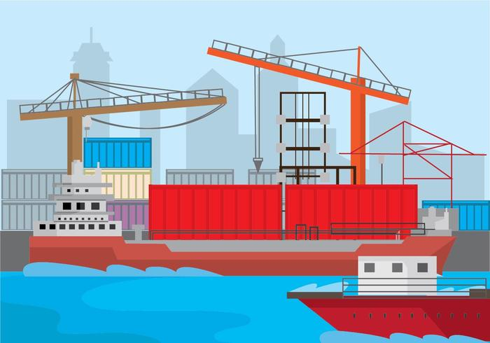 Harbour Background  Vector