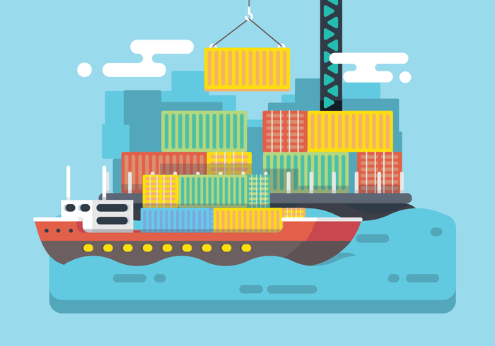 Shipping Harbour Vector
