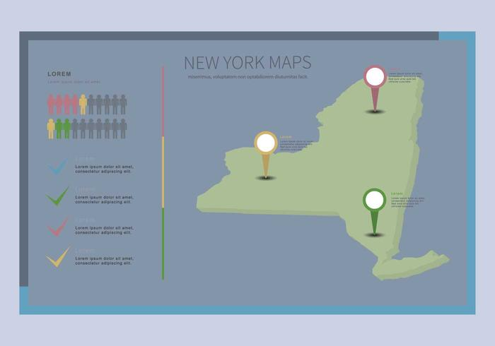 Gratis New York Map Illustration vektor