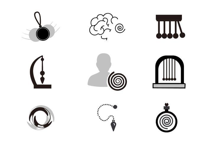 Libre Hipnosis Iconos Vector